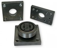 Faro mounting plate for combination bearing and radial bearing