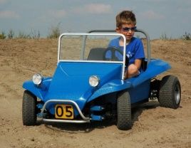 mini buggy with Rosta rubber suspension units