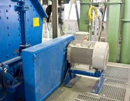 Belt drive grinding installation with Rosta motorbase
