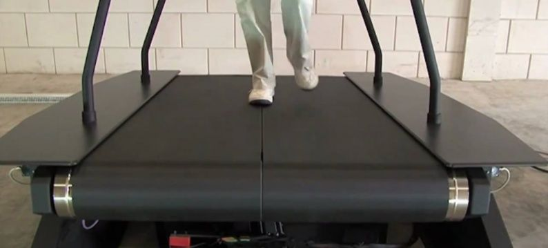 Medical belt treadmill with Exlar electric roller screw actuator