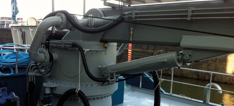 Torriani bunker crane with slewing ring bearing