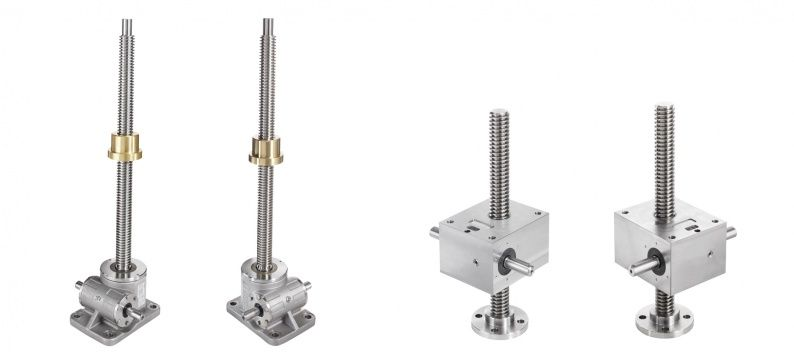 PFAFF SS worm gear screw jack elements
