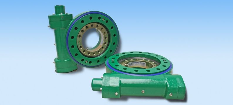 Torriani worm gear slewing rings available from stock