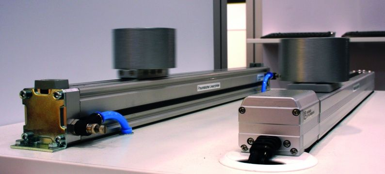 The pneumatic (left) and electric actuators are tested under identical conditions