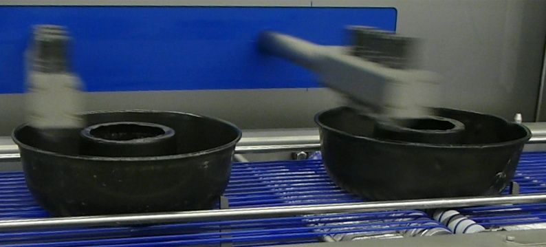 Spray baking tins